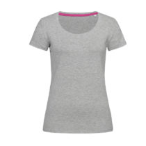 St9700 Dames T Shirt Stedman Claire Crewneck Grey Heather