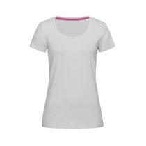 St9700 Dames T Shirt Stedman Claire Crewneck Powder Grey