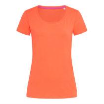 St9700 Dames T Shirt Stedman Claire Crewneck Salmon