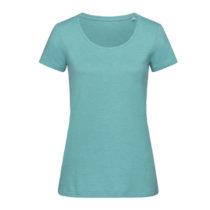 St9900 Dames T Shirt Lisa Crewneck Aqua Heather