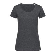 St9900 Dames T Shirt Lisa Crewneck Charcoal Heather