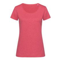 St9900 Dames T Shirt Lisa Crewneck Cherry Heather
