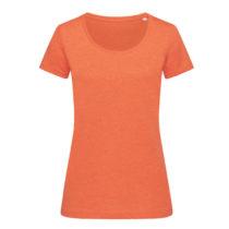 St9900 Dames T Shirt Lisa Crewneck Pumpkin Heather