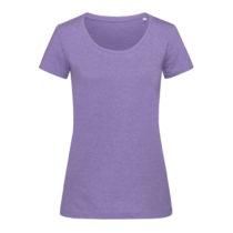 St9900 Dames T Shirt Lisa Crewneck Purple Heather