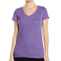 St9910 Dames T Shirt Lisa V Neck Heather Purple