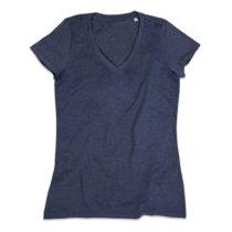 St9910 Dames T Shirt Lisa V Neck Navy Heather