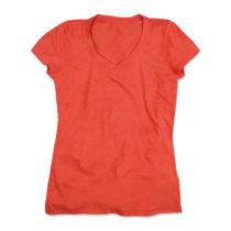 St9910 Dames T Shirt Lisa V Neck Pumpkin Heather