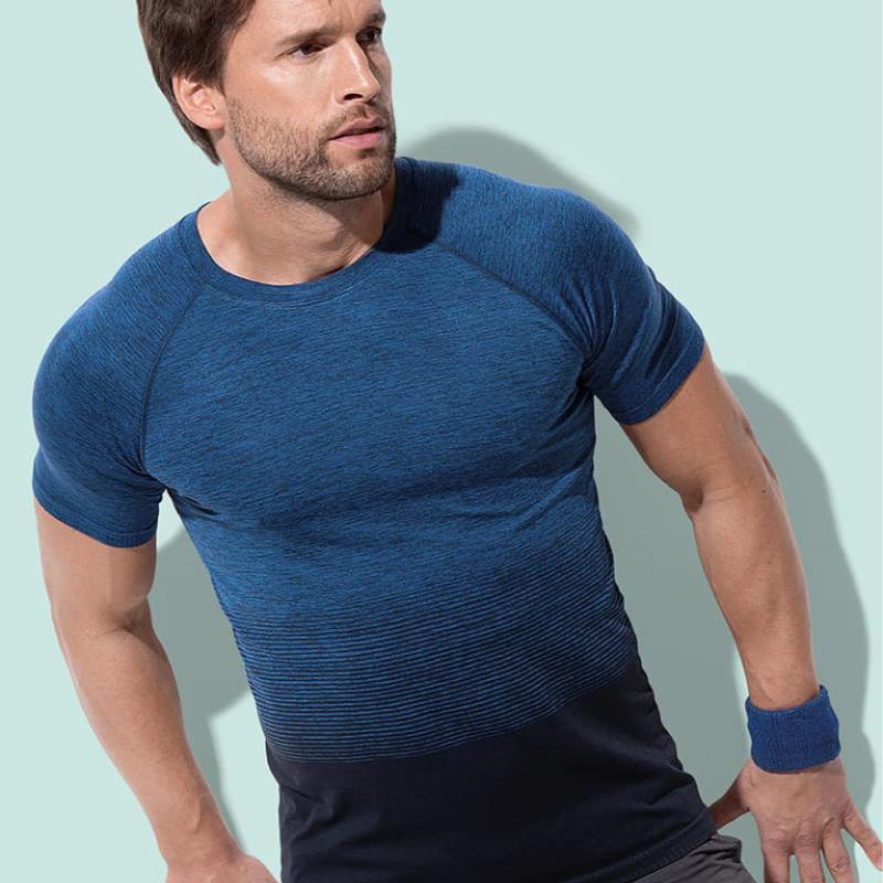 St8810 Heren Sport T Shirt Stedman Seamless Flow