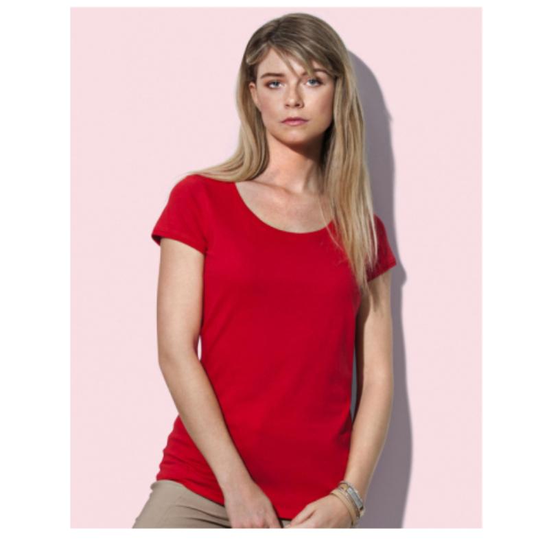 St9130 Dames T Shirt Stedman Megan Crewneck