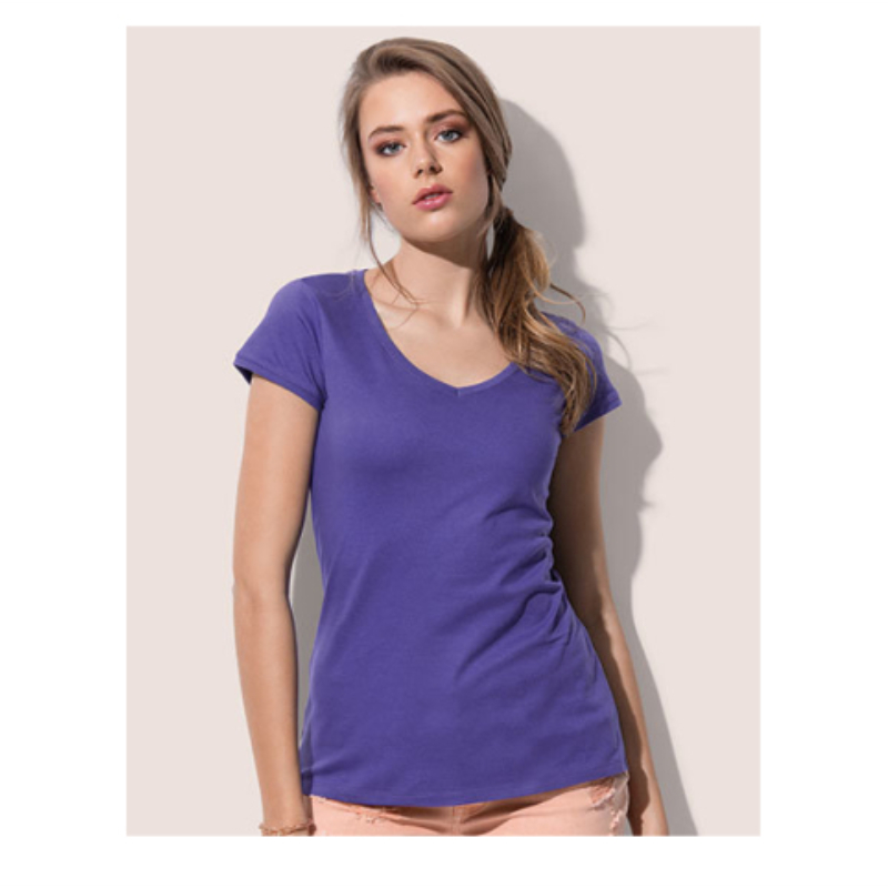 St9130 Dames T Shirt Stedman Megan V Neck