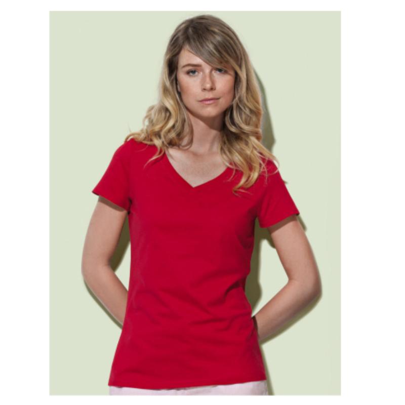 St9310 Dames T Shirt Organic Stedman Janet V Neck