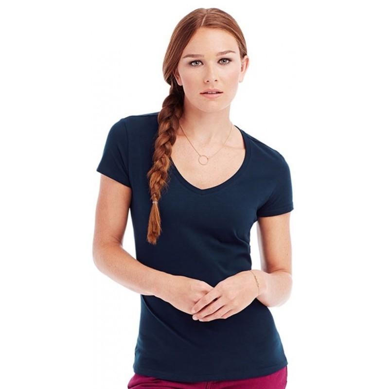 St9710 Dames T Shirt Stedman Claire V Neck