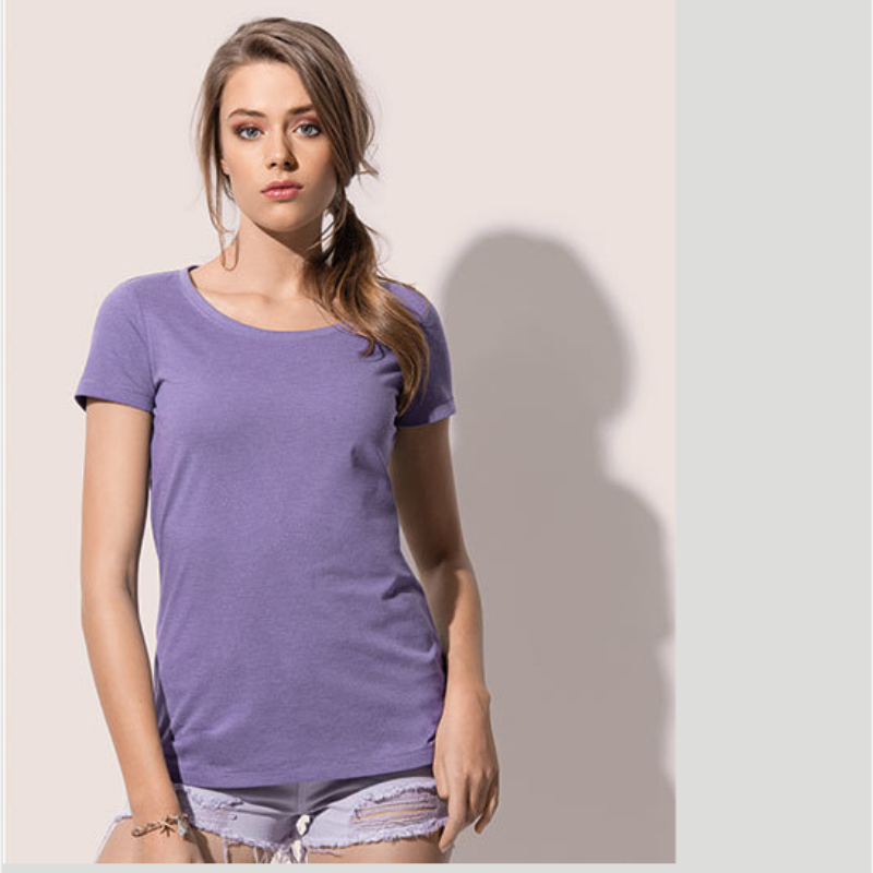 St9900 T Shirt Lisa Crewneck Purple Heather