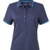 Jn701 Dames Poloshirt Micropolyester Navy Aqua