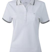 Jn701 Dames Poloshirt Micropolyester White Black