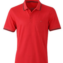 Jn702 Heren Polo Micropolyester Red Black