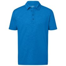 Jn752 Herenpolo Slub Stof Bright Blue