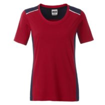 Jn859 Red Navy Dames Werk T Shirt