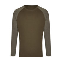 My210 Heren Longsleeve T Shirt Olive Heather Olive