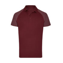 My410 Herenpolo Slim Fit Burgundy Heather
