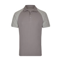 My410 Herenpolo Slim Fit Grey Solid Heather Grey