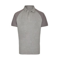 My410 Herenpolo Slim Fit Heather Grey Grey Solid