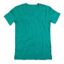 St9400 Heren T Shirt Slub Stof Bahama Green
