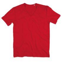 St9410 Shawn Heren Slub Shirt Crimson Red
