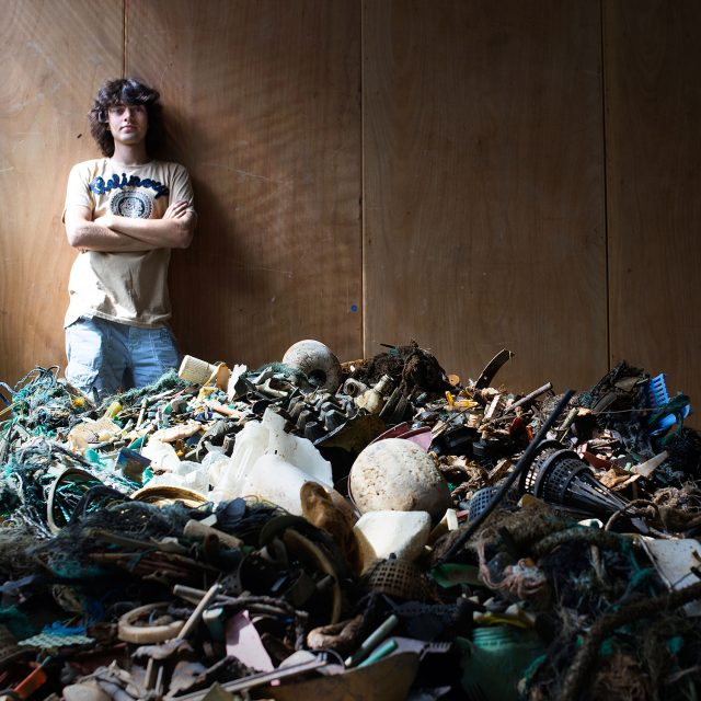 Boyan Slat and plastic found during the ocean cleanup mega expedition