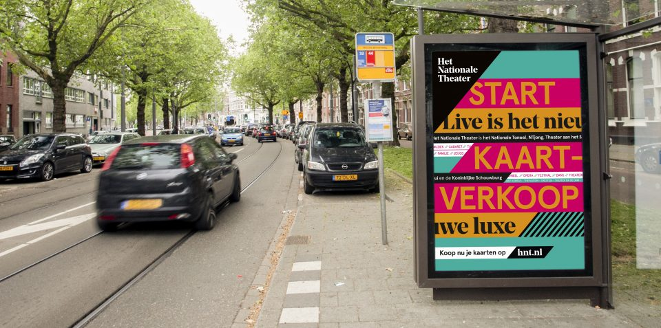 National Theatre abri campaign The Hague