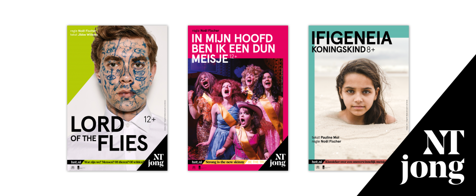 Het Nationale Theater (HNT) diverse grafisch ontwerp folders designed by Grrr voor Het Nationale Theater