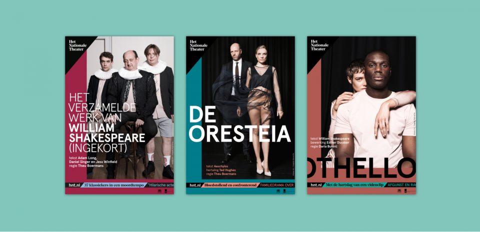 Posters, flyers en andere uitingen voor Het Nationale Theater HNT gemaakt door Grrr - Creative Digital Agency