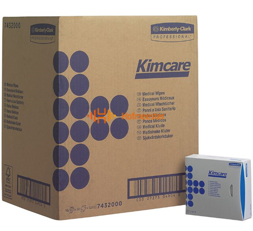 KIMBERLY CLARK MEDICAL WIPES KIMCARE 18,6x10,8cm NR.7432 (66x80st)