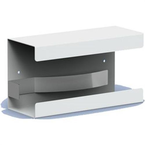 MEDIQO LINE ALUMINIUM HANDSCHOENDISPENSER WIT MODEL MQGDP (135x250x96mm)
