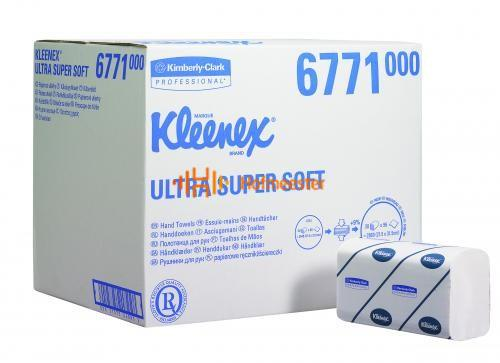 KIMBERLY CLARK HANDDOEKJES I VOUW 3-LAAGS ULTRA SUPER SOFT WIT MEDIUM 21,5x31,5cm NR.6771 (30x96st)