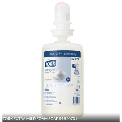 TORK EXTRA MILD FOAM SOAP tbv S4 DISPENSER NR.520701 (1ltr)
