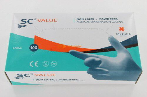 MEDICA SENSICARE VALUE HANDSCHOENEN GEPOEDERD NON-LATEX LARGE (100st)