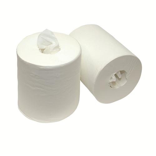 FHS HANDDOEKJES MINI ROLLEN 1-LAAGS 21cm (12st)