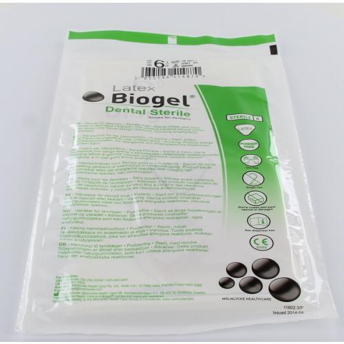 REGENT BIOGEL-D HANDSCHOENEN LATEX POEDERVRIJ STERIEL MAAT 6.5 (10pr)
