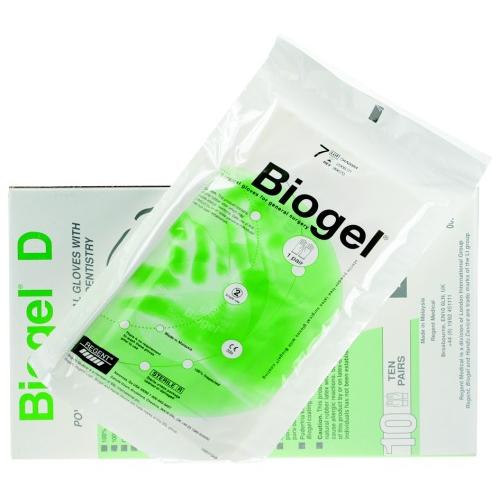 REGENT BIOGEL-D HANDSCHOENEN LATEX POEDERVRIJ STERIEL MAAT 8.5 (10pr)