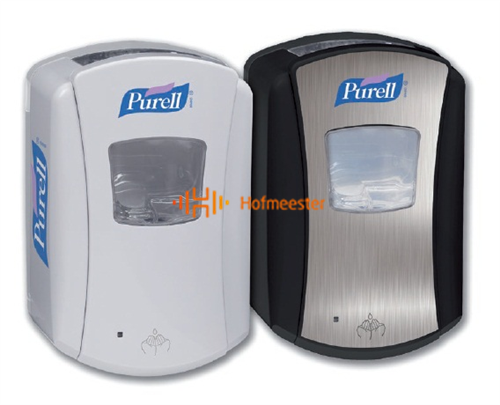 GOJO PURELL TOUCHLESS HANDGEL DISPENSER ZWART/CHROME NR.LTX-7
