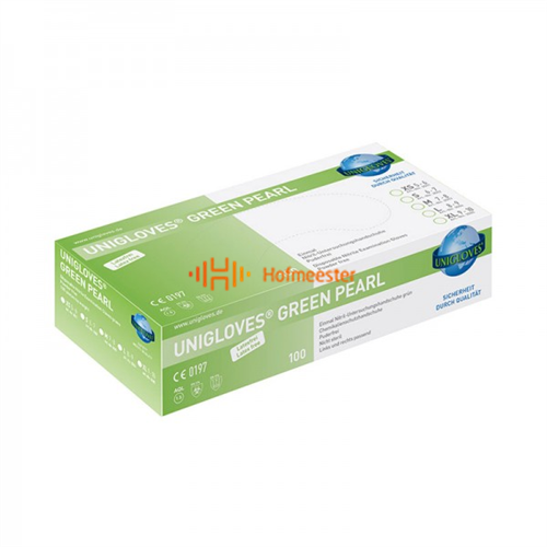 FHS HANDSCHOENEN POEDERVRIJ NITRILE GREEN PEARL SMALL (GROEN/100st)