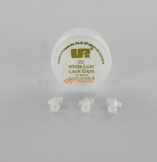 ULTRADENT WHITE LUER LOCK CAPS NR.UP-205 (20st)
