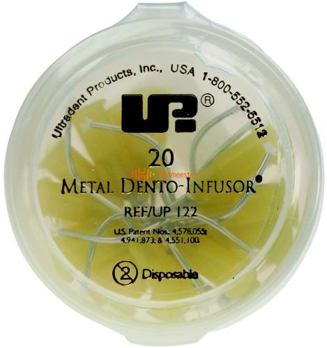 ULTRADENT METAL DENTO-INFUSOR TIPS GEEL NR.UP-122/2558 (20st)