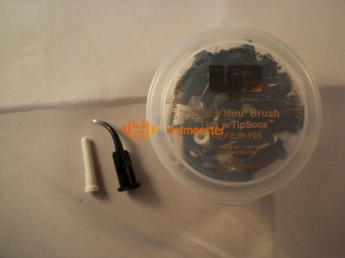 ULTRADENT BLACK MINI BRUSH TIPS MET TIPSOC COVER NR.UP-193 (20st)