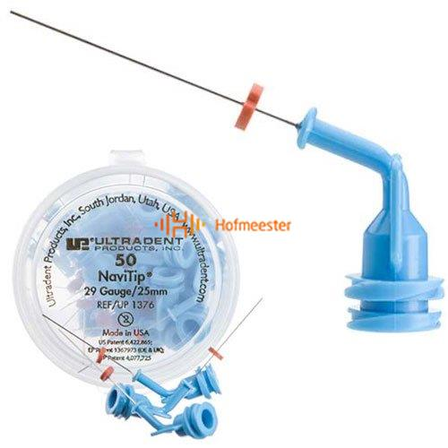 ULTRADENT SPOELNAALDEN NAVI TIPS 29G 25mm BLAUW NR.UP-1376 (50st)