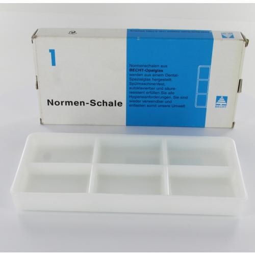 BECHT NORM SCHAAL 6-VAKS (200x100x22mm)