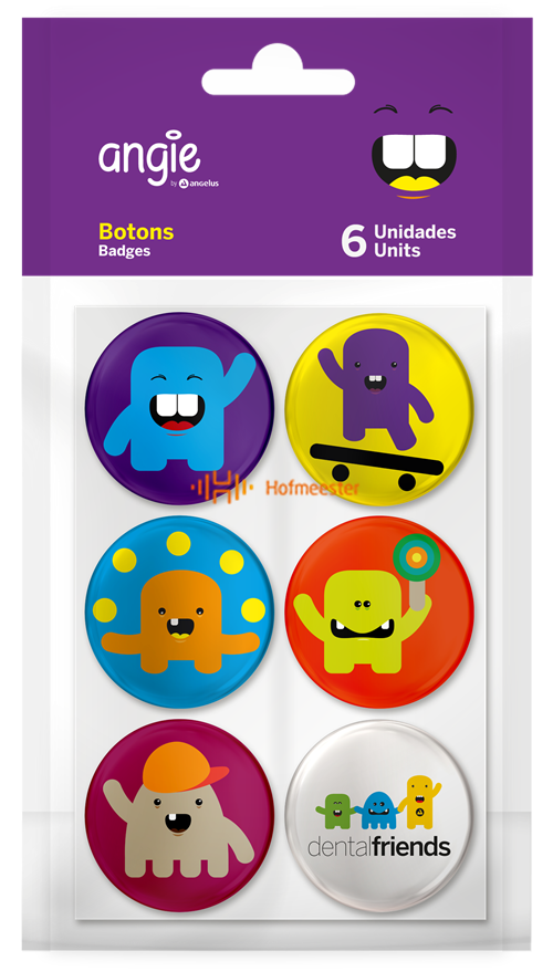 ANGELUS ANGIE DENTAL FRIENDS BUTTONS (6st)