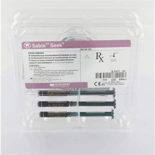 ULTRADENT SABLE SEEK CARIES DETECTOR GROEN NR.UP-233 (4x1,2ml/tips)