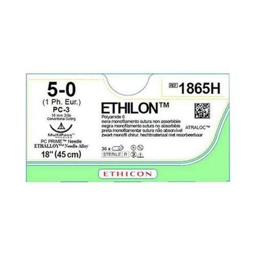 J&J ETHILON BLU M1 5-0 W526 MET PC-3 NAALD 45cm (36st)